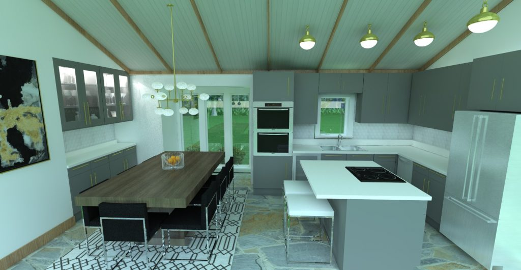 kitchen with all cabinets